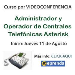 Curso Centrales Asterisk por Videoconferencia